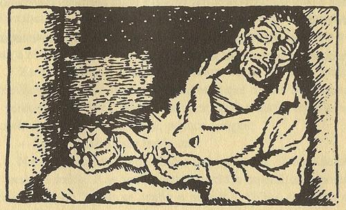 No escuro caletre de Martiño - Cousas de CastelaoNo escuro caletre de Martiño - Cousas de Castelao