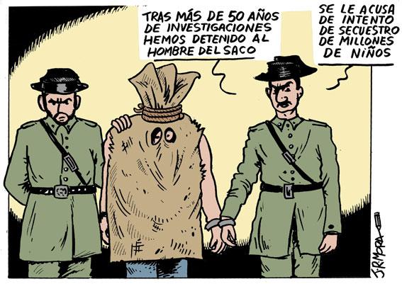 Detención del hombre del saco, por JR Mora